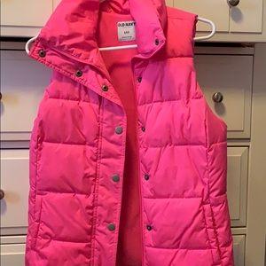 Neon pink vest